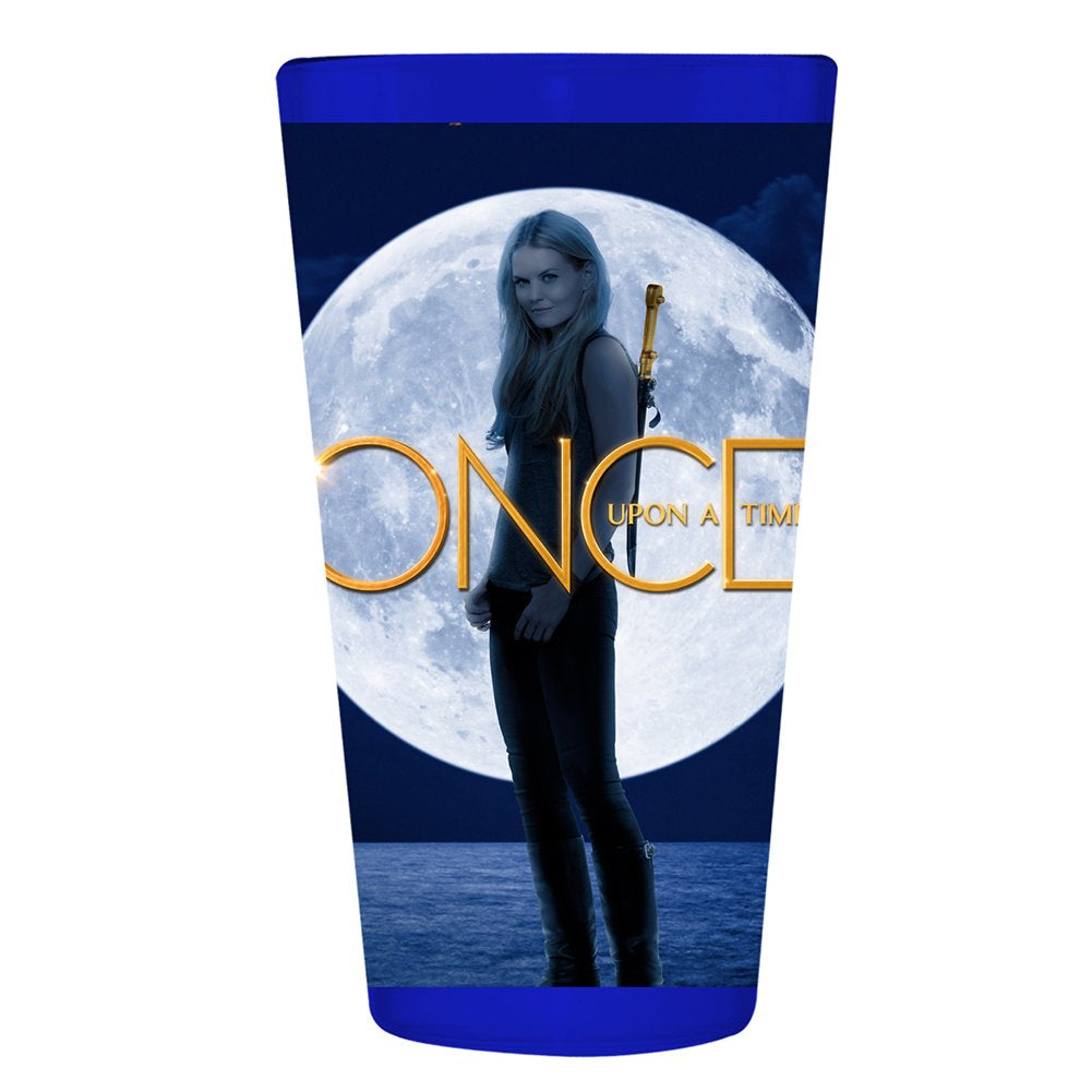 Pint Glass with Emma Swan from Once Upon A Time