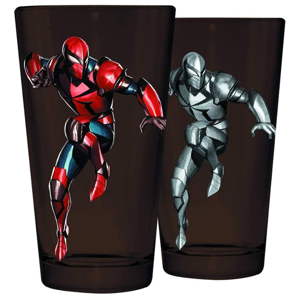 Marvel's Spider Knight two sided pint glass