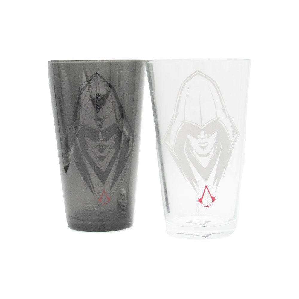 Set of two Assassin's Creed Syndicate pint glasses