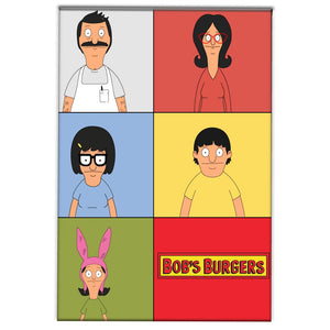 Family from Bob's Burgers on a magnet