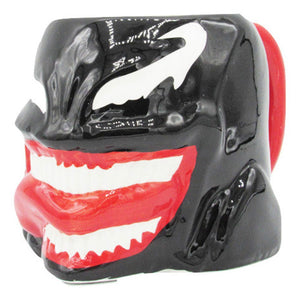 Coffee mug shaped like Venom from Marvel