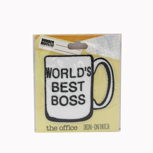 "The Office ""Worlds Best Boss"" iron-on patch"