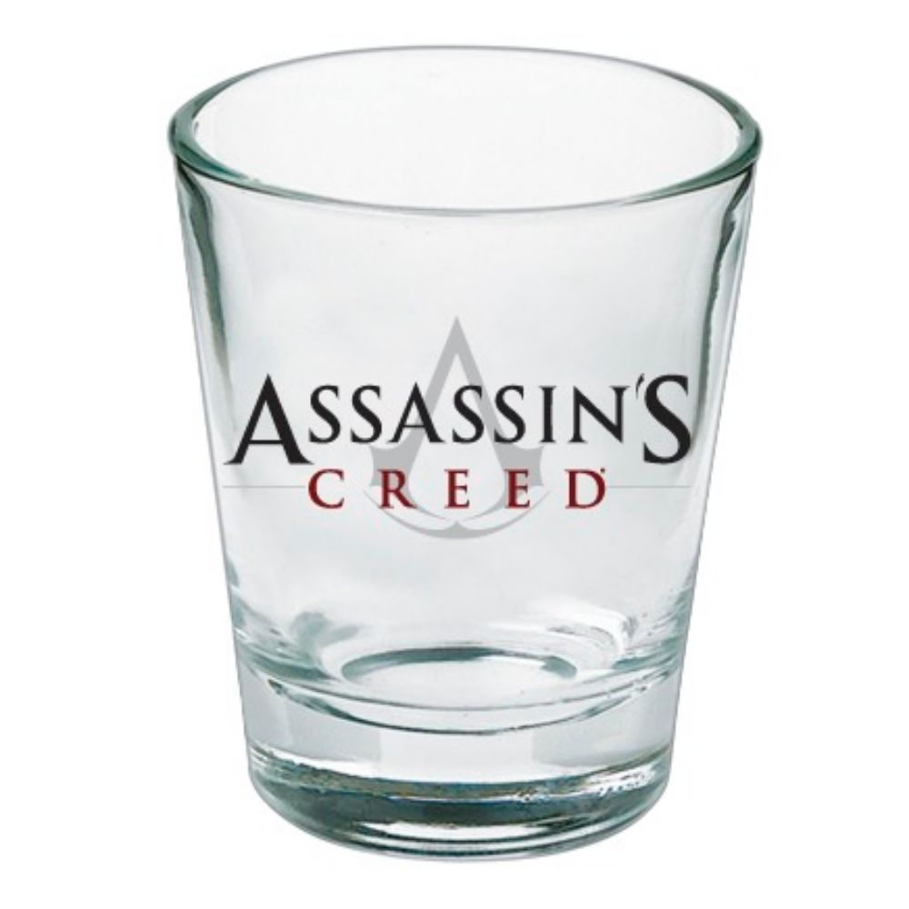 Clear Assassin's Creed logo shot glass