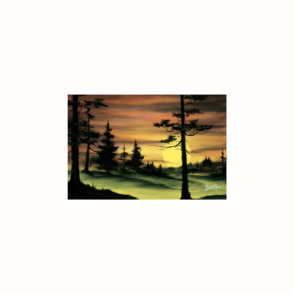 Bob Ross Susnet painting tapestry
