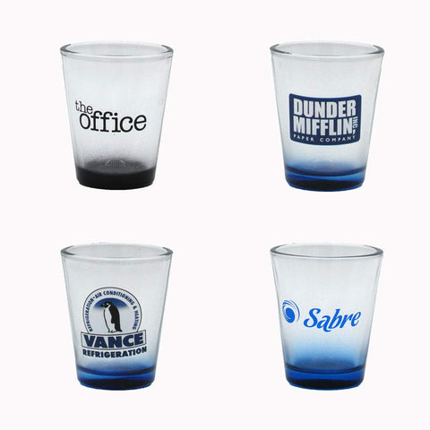 Set of four shot glasses from The Office