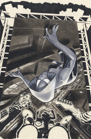 Spider-Gwen # 1 Adam Hughes CONQUEST COMICS Exclusive B&W Variant CGC SS