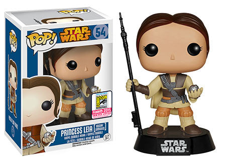 Star Wars PRINCESS LEIA BOUSHH UNMASKED 2015 SDCC Exclusive Funko Pop