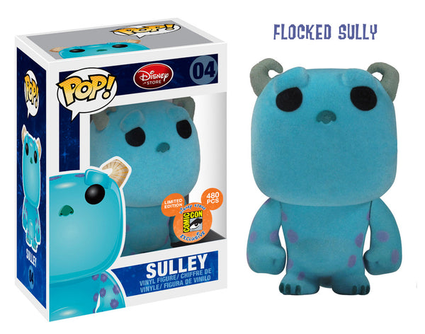 DISNEY Monsters Inc FLOCKED SULLEY Funko Pop SDCC Exclusive