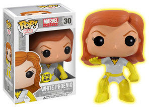 Marvel Comics GLOW in the DARK WHITE & GOLD PHOENIX Funko Pop Conquest Comics Exclusive