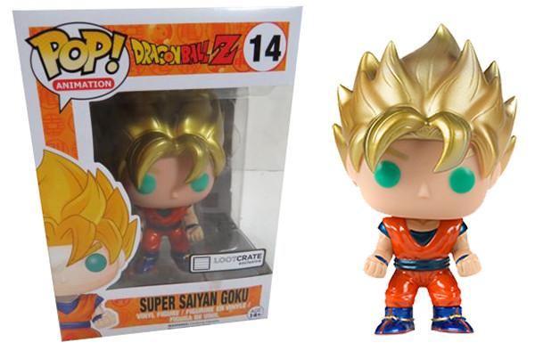 Dragonball Z SUPER SAIYAN GOKU Lootcrate Exclusive Funko Pop
