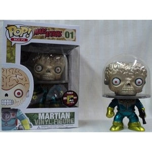 Mars Attacks METALLIC MARTIAN 2012 SDCC Exclusive Funko Pop