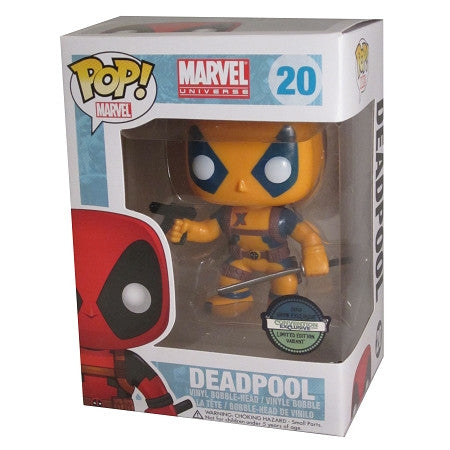 Marvel Comics DEADPOOL Orange & Blue CONVENTION EXCLUSIVE  Funko Pop