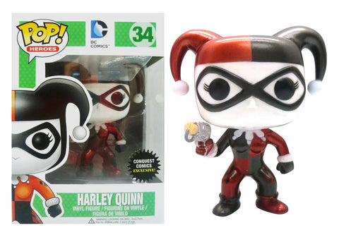 DC Comics METALLIC HARLEY QUINN Funko Pop Conquest Comics Exclusive
