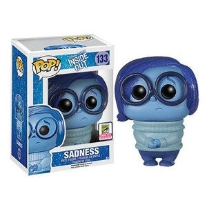 Disney Inside Out SPARKLE HAIR SADNESS 2015 SDCC Exclusive Funko Pop