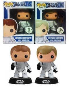Star Wars SET of 2 Luke & Han as Stormtrooper ECCC EXCLUSIVE Funko Pop