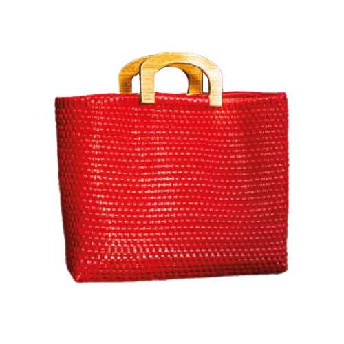 Leila Robin Red Wood Handles Bag