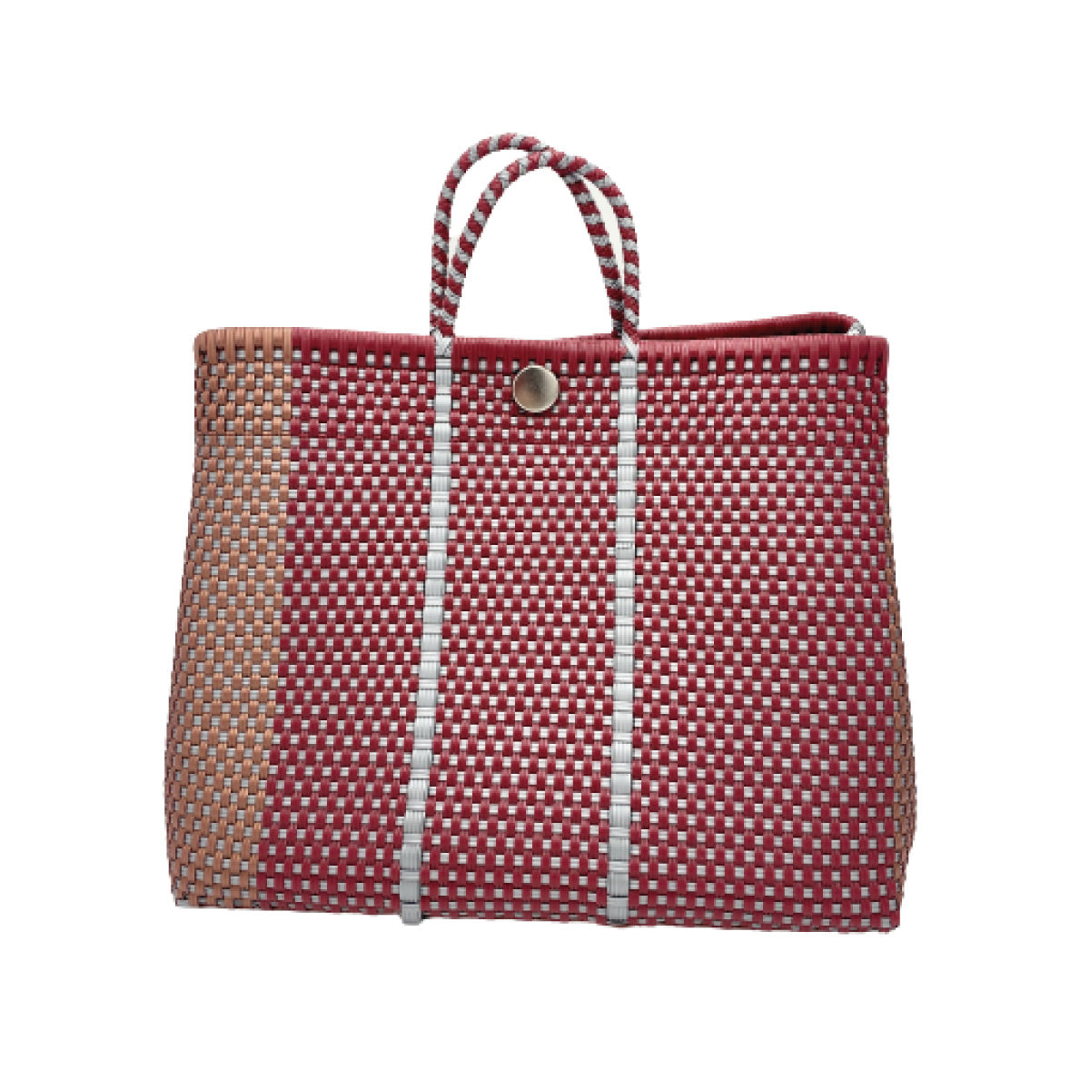 Red, Copper, and Silver Bella Tote