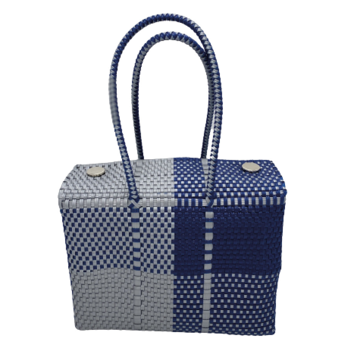 Silver & Blue Patch Maru Basket
