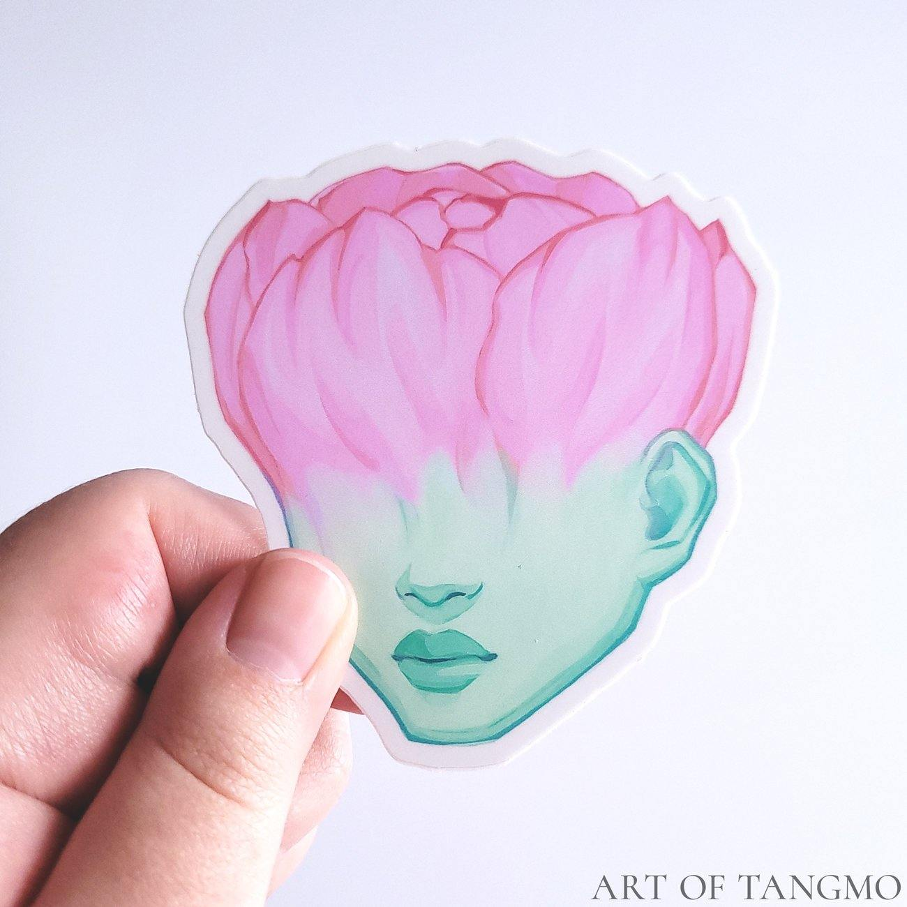 Flower Bud Vinyl Sticker - Art of Tangmo