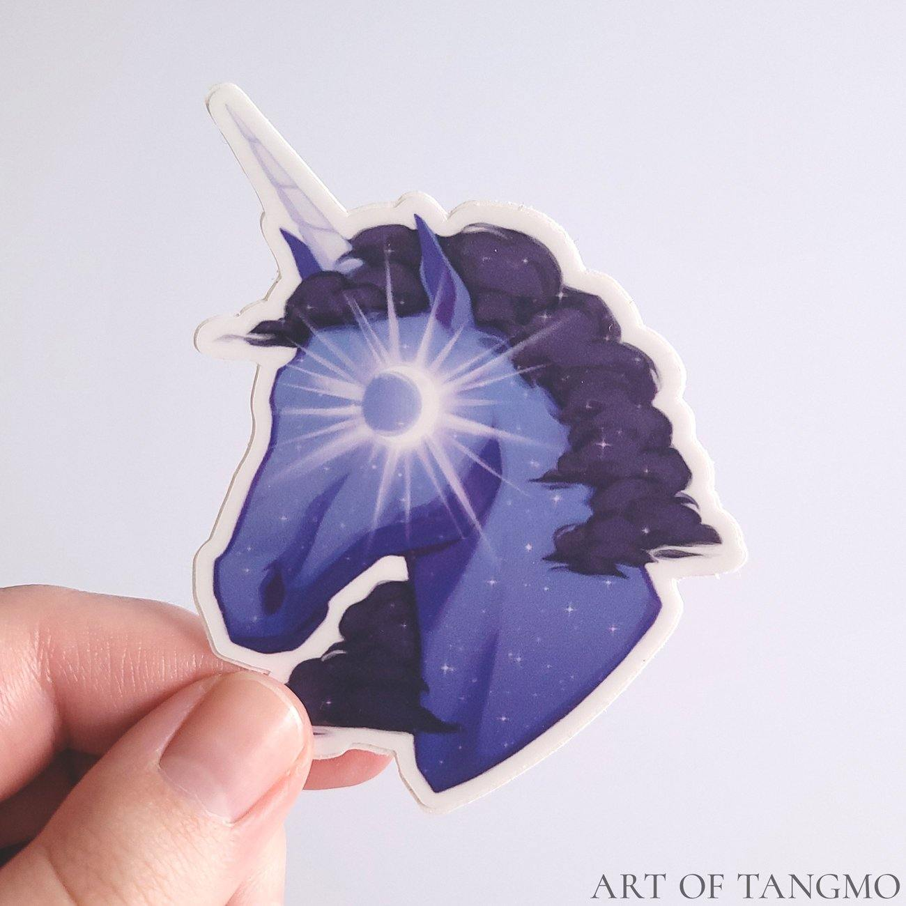 Night Unicorn Vinyl Sticker - Art of Tangmo