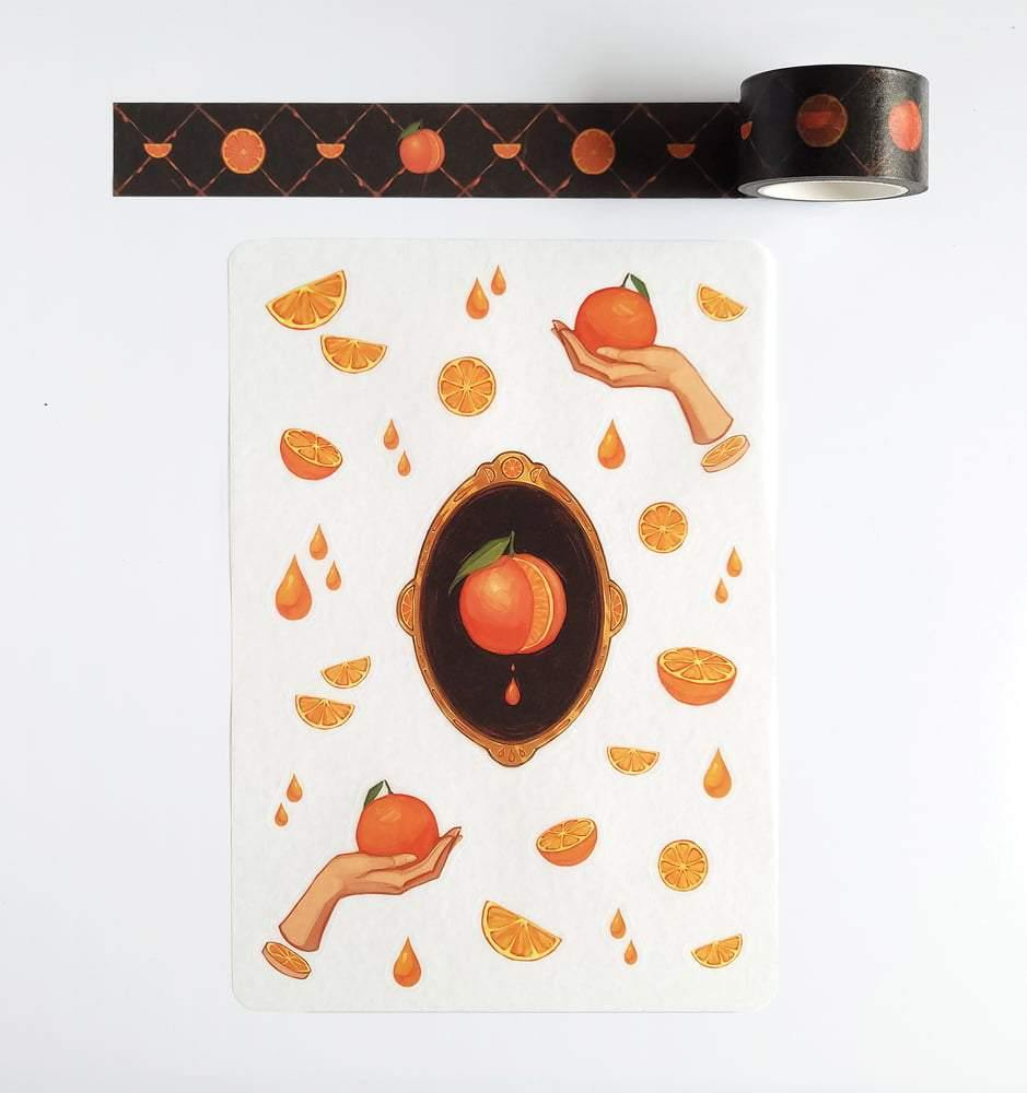 Orange Juice Washi Tape - Art of Tangmo