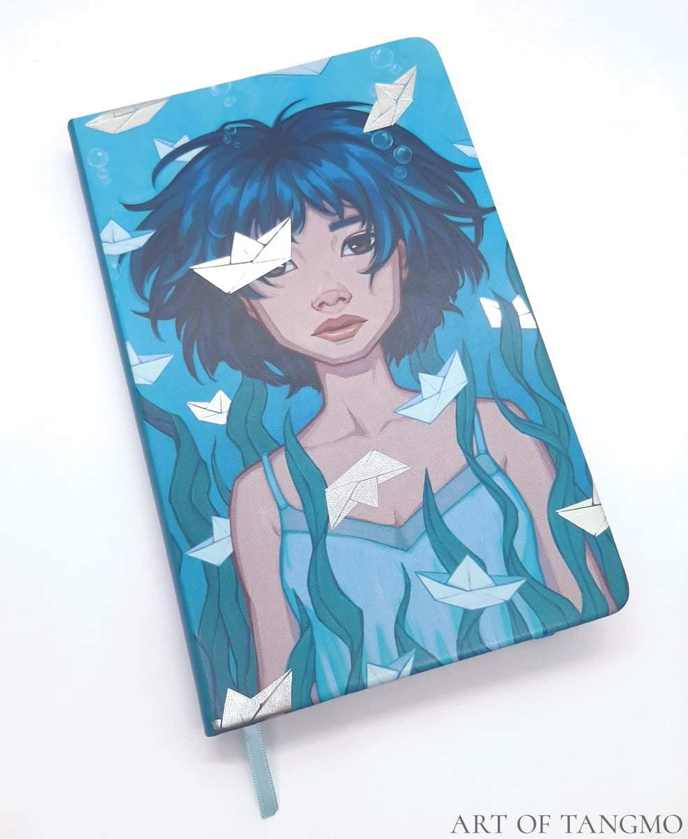 Swimming Thoughts Hardcover Journal [Blank] - Art of Tangmo