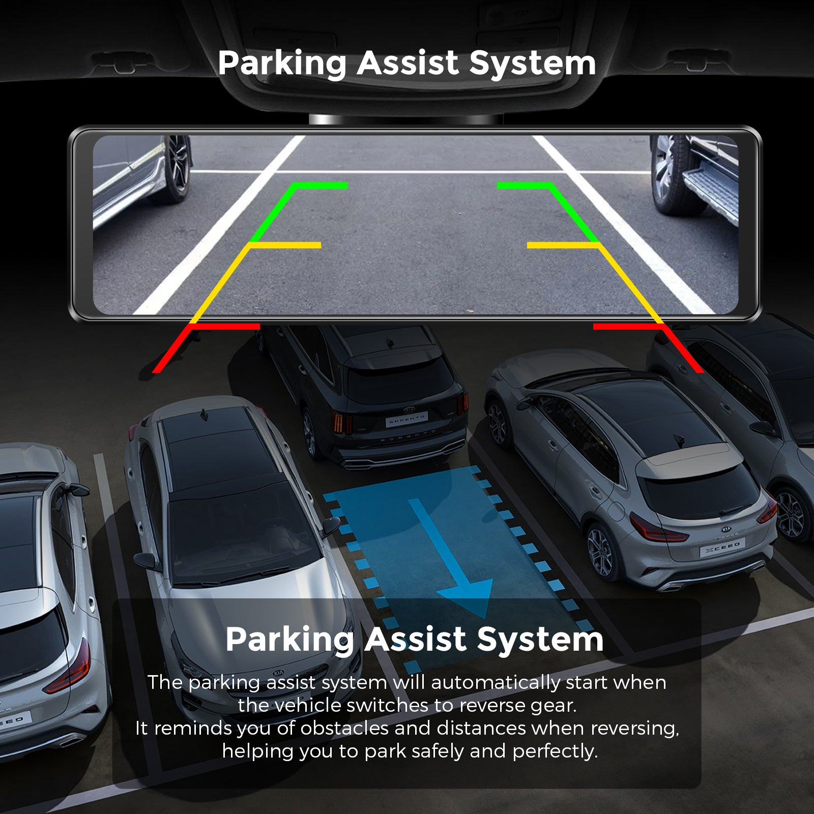 AZDOME PG16 parking assist system