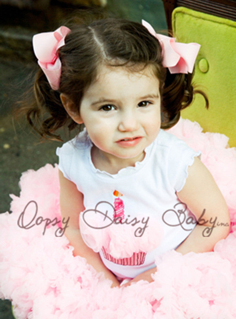 Birthday Top with Pink Rosettes