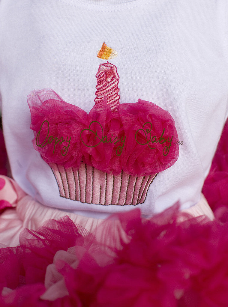 Birthday Top with Raspberry Rosettes