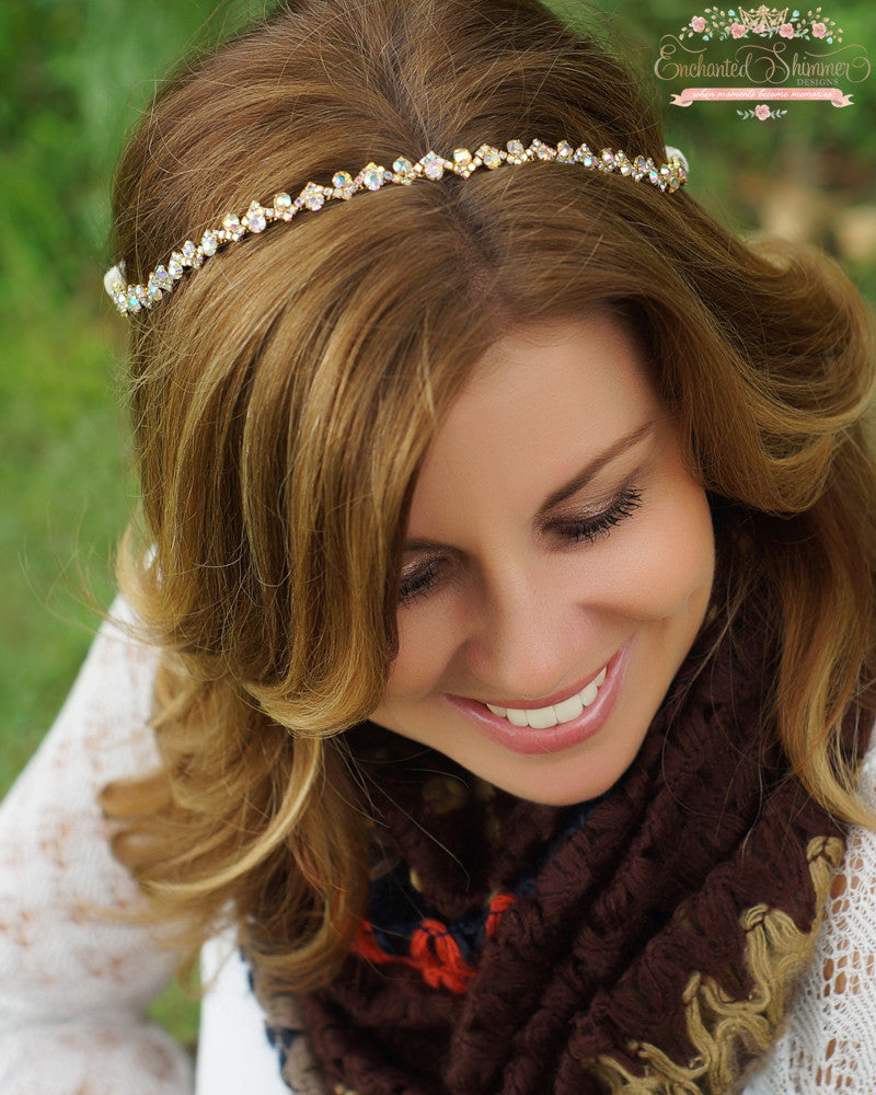 "Gold ""Dainty"" Headpiece"