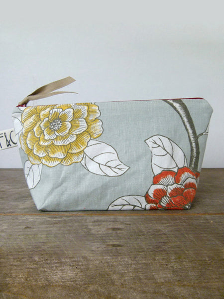 Frankie & Coco PDX Handmade Floral Linen Cosmetic Bag