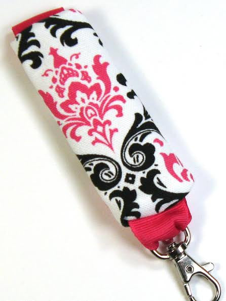 GracieDesigns Pink Floral Print Lip Cozy