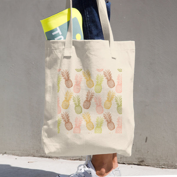 BOTB Pineapples Cotton Tote Bag