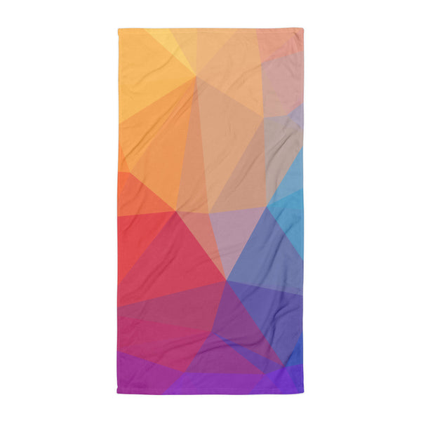 Rainbow Prisms Beach Blanket