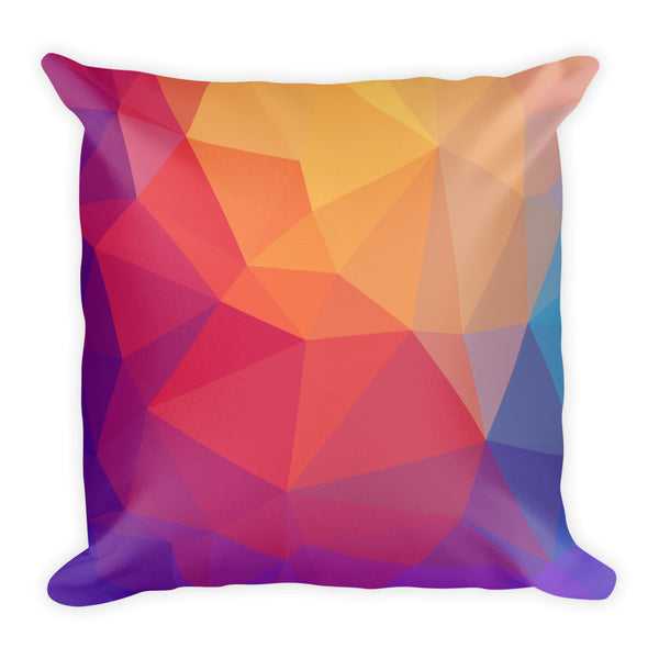 BOTB Rainbow Prisms Square Pillow