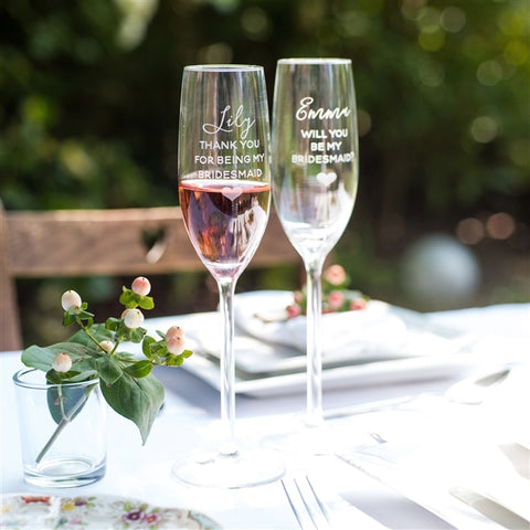 Champagne glasses for Bridesmaids