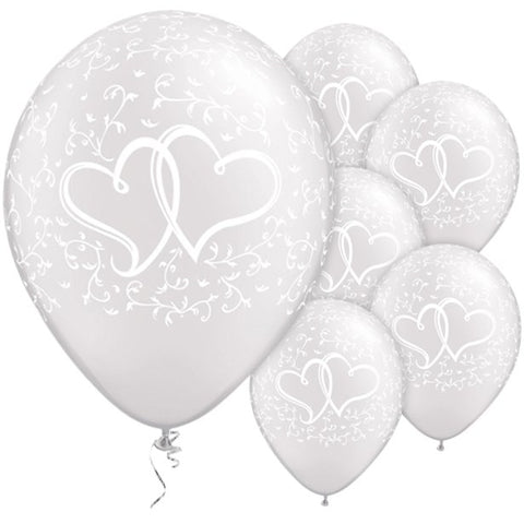 entwined heart balloons