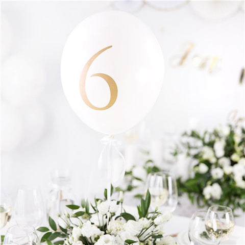 balloon table number