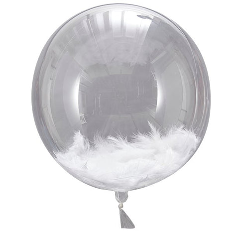 feather filled balloon