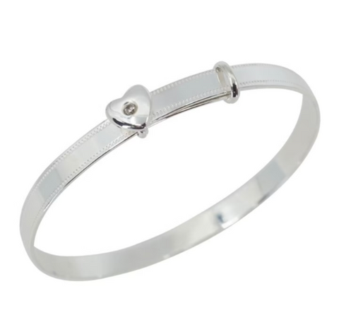 Childs bangle with heart detail
