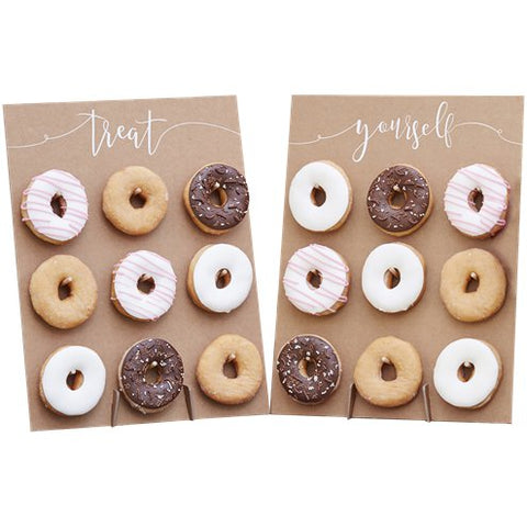 donut wall with words Treat Yourself