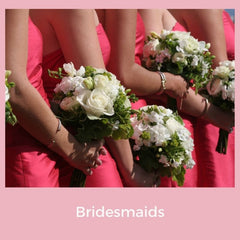 Bridesmaids with bouquets