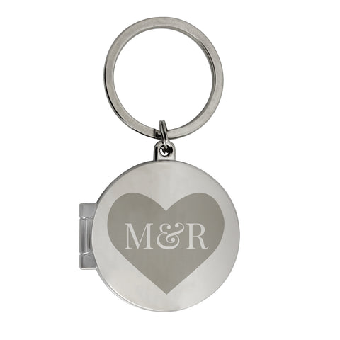 key ring with initials