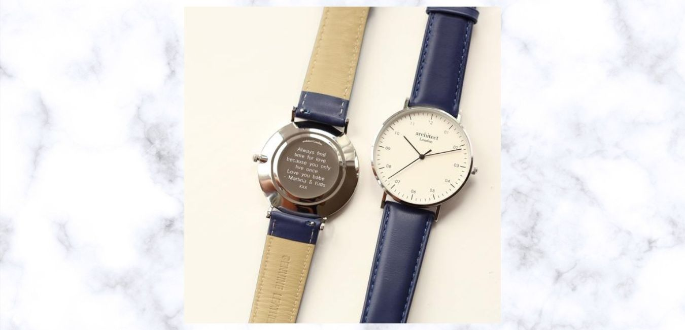 Mens engraved watch