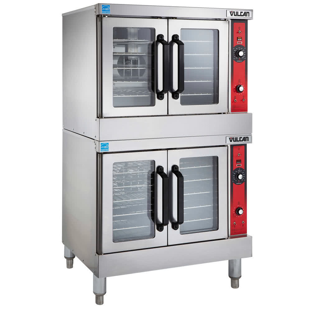 Vulcan Hart Natural Gas Double Deck Full Size Convection Oven 100,000 BTU