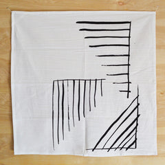 Graphic Black Corner Print Kitchen Towel