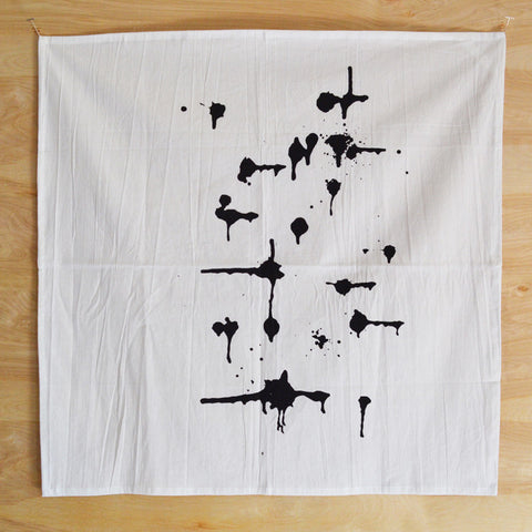 Graphic Black Driplets Print Kitchen Towel