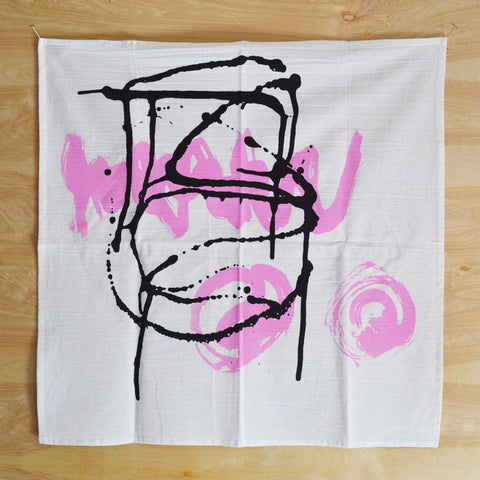 Graphic Pink ZigOs-Splat Print Kitchen Towel