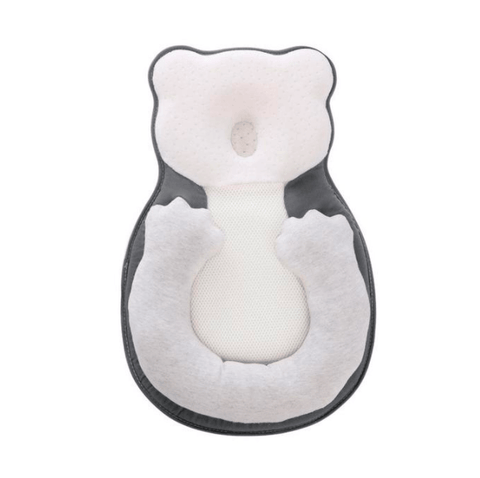 Baby Anti-Roll Pillow in white and grey color