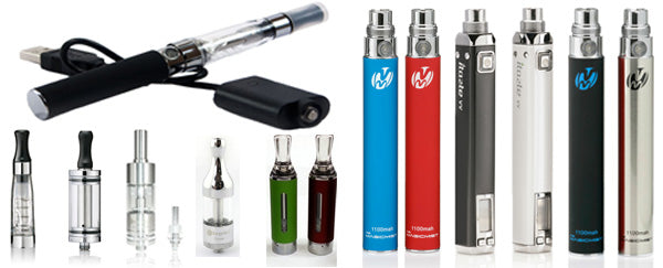 Ego, Evod & iTaste Vapourizers